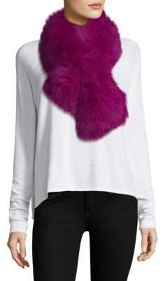 Adrienne Landau Pull-Through Dyed Fox Fur Scarf