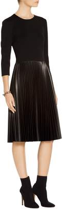 St. John Pleated Milano Knit Dress