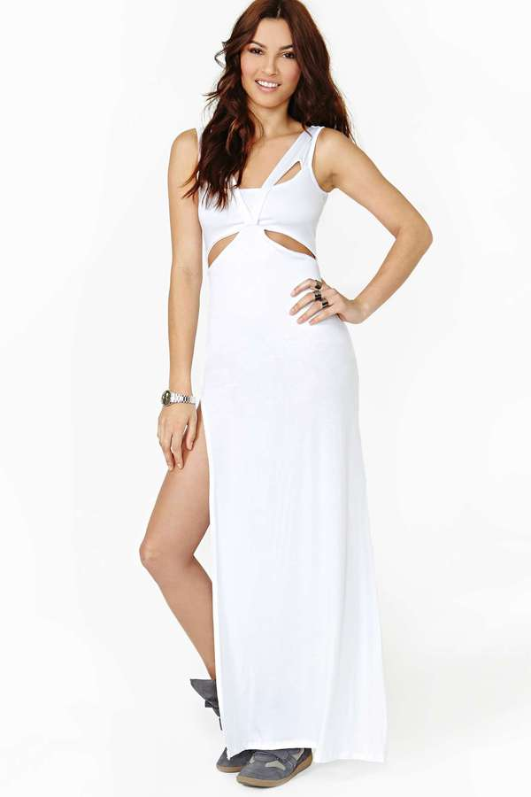 Nasty Gal Cloud Connected Maxi Dress