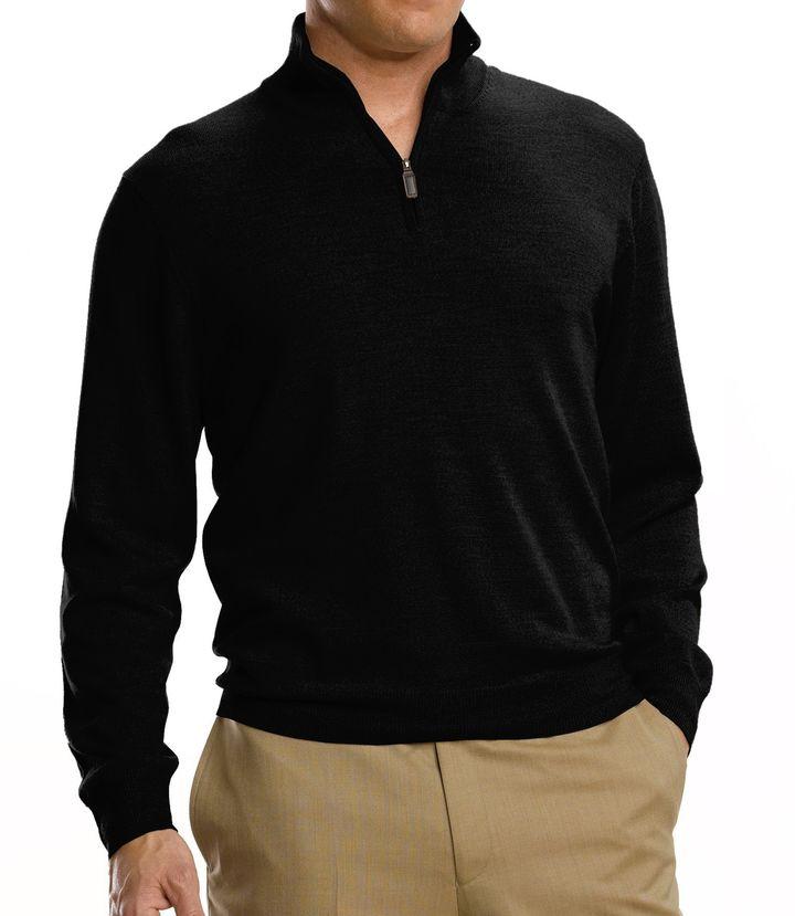 Jos. A. Bank Signature Merino Wool Half-Zip Sweater Big/Tall