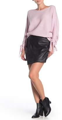 Joie Orlanda Studded Leather Skirt