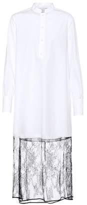 Valentino Lace-trimmed cotton dress