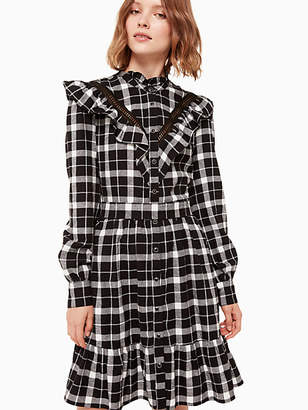Kate Spade Rustic plaid flannel dress