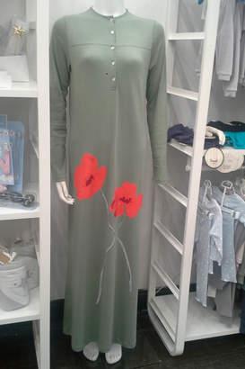 Velvette Women's Pima Cotton Modal Luxurious Floral Print Robe Loungewear