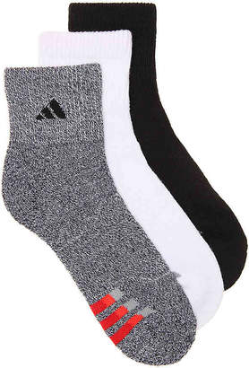 adidas Quarter Marled Ankle Socks - 3 Pack - Men's