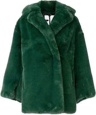 Courreges faux fur oversized jacket