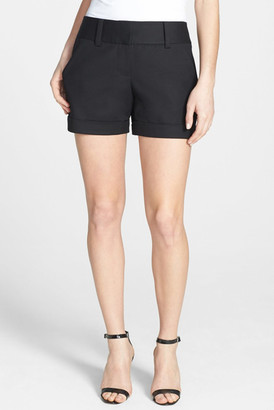 Vince Camuto Flat Front Cuff Stretch Short $74 thestylecure.com