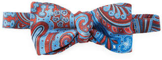 Etro Pre-Tied Paisley Silk Bow Tie