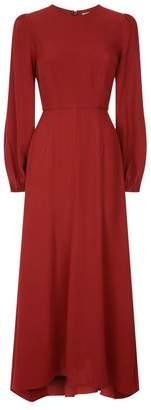 Zimmermann Blouson Sleeve Midi Dress