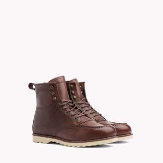Tommy Hilfiger Contrast Leather Boot