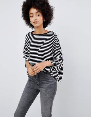 Dr. Denim oversized t-shirt in stripe