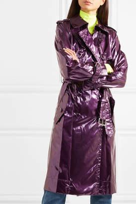 Marc Jacobs Metallic Vinyl Trench Coat - Purple