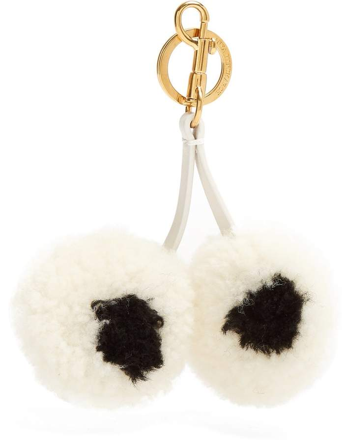 Anya Hindmarch Eye shearling key ring