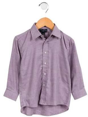 Oscar de la Renta Boys' Woven Button-Up Shirt w/ Tags
