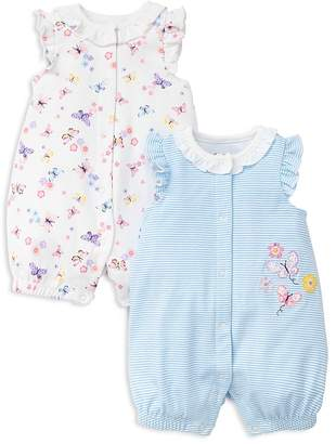 Little Me Girls' Butterfly Rompers, Set of 2 - Baby