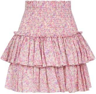 Petersyn Asia Tiered Mini Skirt