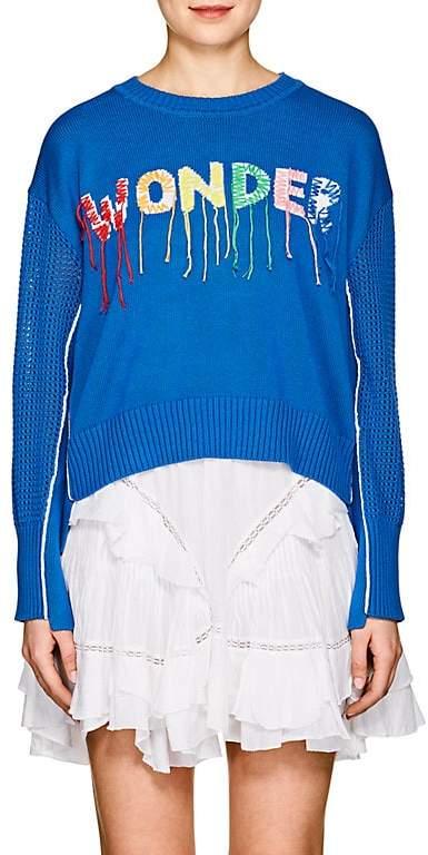 "Mira Mikati Women's ""Wonder""-Embroidered Cotton Sweater"