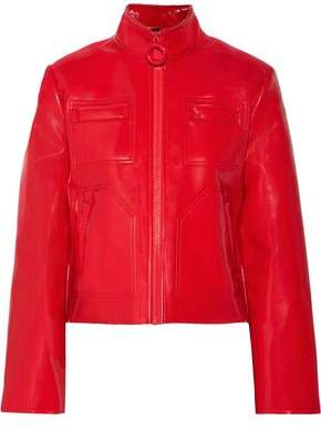 Carven Glossed Faux Leather Jacket