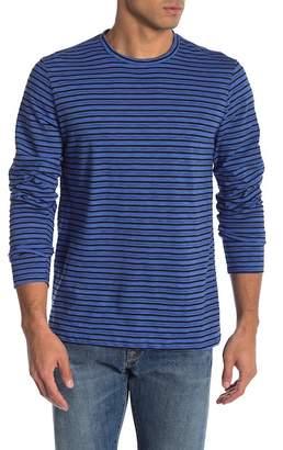 Public Opinion Slub Stripe Long Sleeve Crew Neck Shirt