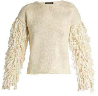 Blend of America Tabula Rasa - Karash Fringed Sleeve Alpaca Sweater - Womens - Cream