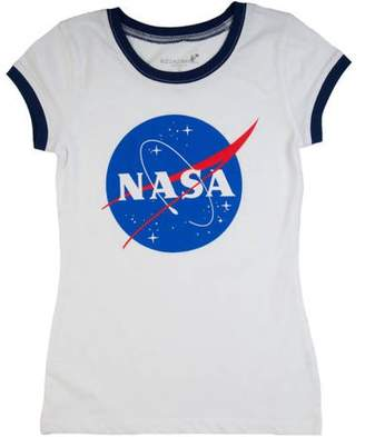 NASA Girls' Tee with Navy Ringer