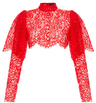 Rasario Lace Cropped Top