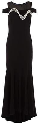 Karen Millen Fluted Fishtail Maxi Dress