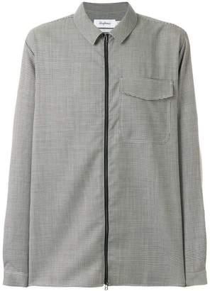 Schnaydermans houndstooth zip-up shirt