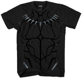 Novelty T-Shirts Boys Crew Neck Short Sleeve Black Panther T-Shirt Preschool / Big Kid