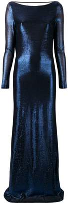 DSQUARED2 metallic empire-line dress