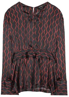 Isabel Marant Siasi printed silk-satin blouse