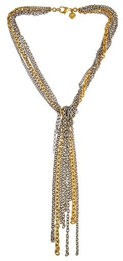 Ben Amun Knotted Chains Lariat Necklace