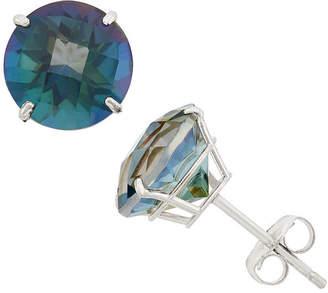 Fine Jewelry Genuine Mystic Fire Topaz 10k Gold 8mm Stud Earrings