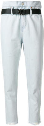 IRO belted cropped jeans