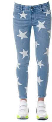 Stella McCartney Skinny Denim Stars Print Jeans