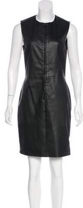 The Row Leather Bodycon Dress