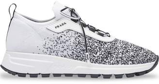 Prada knitted lace-up sneakers