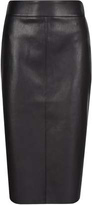 Dorothy Perkins Womens Black Pu Midi Skirt