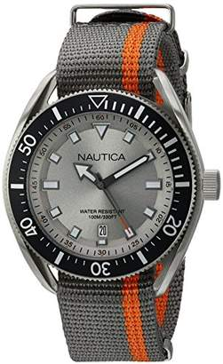 Nautica Men's 'Portofino' Quartz Stainless Steel and Nylon Casual Watch