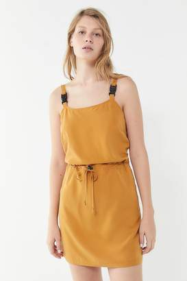 Urban Outfitters Emmy Utility Buckle-Strap Mini Dress