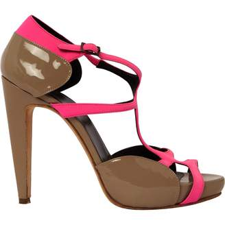 Pierre Hardy Grey Patent leather Sandals