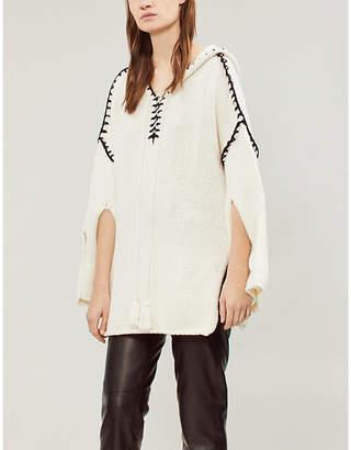 Philosophy di Lorenzo Serafini Contrast-stitched cotton-blend hoody
