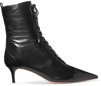 Alexandre Birman Millen Lace-up Leather Ankle Boots - Black