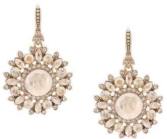Marchesa embellished flower earrings