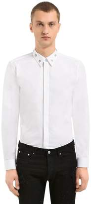 Givenchy Cotton Poplin Shirt W/ Metal Stars