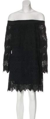 N. Nicholas Off-The-Shoulder Crochet Dress