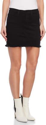 Flying Monkey Black Distressed Denim Skirt
