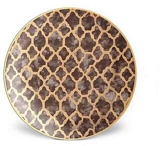L'OBJET Four-Piece Fortuny Ashanti Earthenware 24K Gold-Finish Dessert Plates