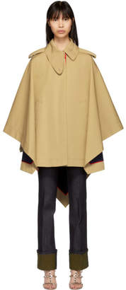 Valentino Beige Cape Coat