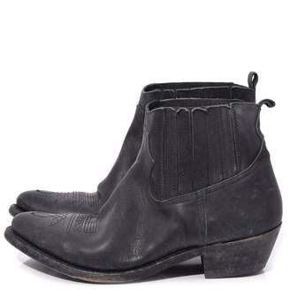 Golden Goose Crosby Boot in Black Leather